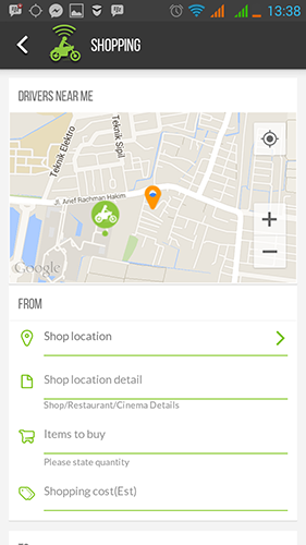 GOJEK Surabaya Shopping